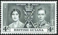 British Guiana 1937 George VI Coronation b