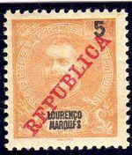 Lourenço Marques 1911 D. Carlos I Overprinted q