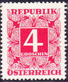 Austria 1951 Postage Due Stamps - Square frame with digit (3rd Group) a.jpg