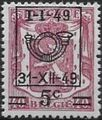Belgium 1949 Coat of Arms, Precanceled and Surcharged c.jpg