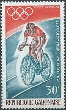 Gabon 1968 19th Summer Olympic Games Mexico City b