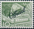 Switzerland 1950 Engineering - Switzerland Postage Stamps of 1949 Overprinted Officiel b.jpg