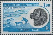 St Pierre et Miquelon 1973 Newfoundland Dog - Postage Due Stamps e