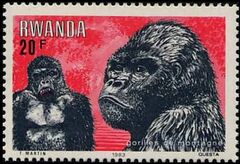 Rwanda 1983 Mountain Gorilla e