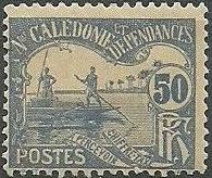 New Caledonia 1906 Men Poling (Postage due Stamps) f