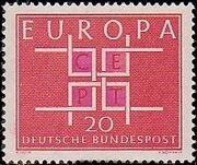 Germany, Federal Republic 1963 Europa b
