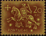 Portugal 1953 Definitives - Medieval Knight p