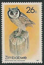 Zimbabwe 1987 Native Owls c