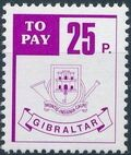 Gibraltar 1984 Postage Due Stamps e