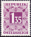Austria 1949 Postage Due Stamps - Square frame with digit (1st Group) m.jpg