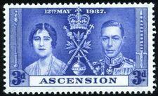 Ascension 1937 George VI Coronation c