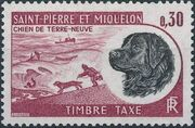 St Pierre et Miquelon 1973 Newfoundland Dog - Postage Due Stamps d