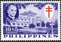 Philippines 1958 Philippine Tuberculosis Society - Manuel Quezon & the Quezon Institute b.jpg