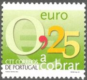 Portugal 2002 Euro Coins (Postage Due Stamps) e