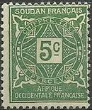 French Sudan 1931 Postage Due a
