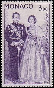 Monaco 1959 Air Post-Prince Rainier III and Princess Grace a