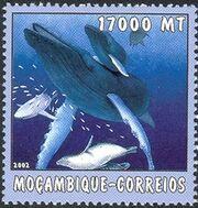 Mozambique 2002 The World of the Sea - Whales 2 e