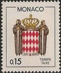 Monaco 1985 National Coat of Arms - Postage Due Stamps (1st Group) c