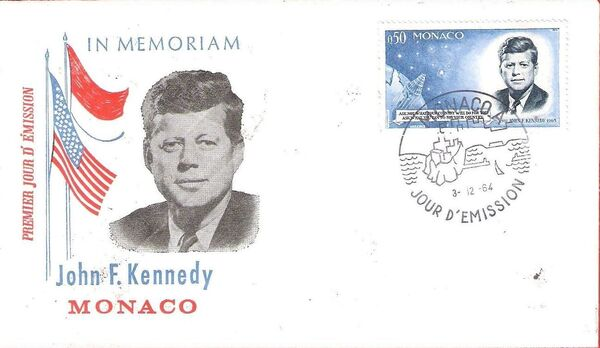 Monaco 1964 Pres. John F. Kennedy and Mercury Capsule j