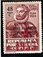 Portugal 1933 Red Cross - 400th Birth Anniversary of Camões b