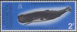 British Antarctic Territory 1977 Conservation of whales a