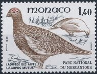 Monaco 1982 Birds from Mercantour National Park e