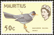 Mauritius 1965 Birds in Natural Colors j
