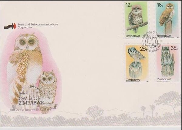 Zimbabwe 1987 Native Owls 1st Issue a