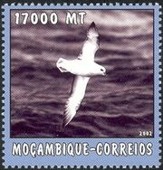 Mozambique 2002 The World of the Sea - Sea Birds 2 b