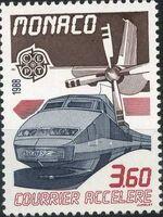 Monaco 1988 EUROPA - Transport and Communications b
