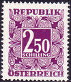 Austria 1951 Postage Due Stamps - Square frame with digit (3rd Group) d.jpg