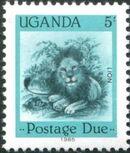 Uganda 1985 Wildlife (Postage Due Stamps) a