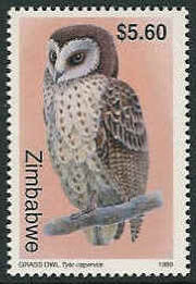 Zimbabwe 1999 Native Owls 3th Issue b