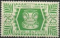 Wallis and Futuna 1944 Ivi Poo Bone Carving in Tiki Design c