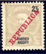 Lourenço Marques 1911 D. Carlos I Overprinted p