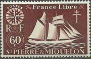 St Pierre et Miquelon 1942 Fishing Schooner St. Malo f