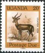 Uganda 1985 Wildlife (Postage Due Stamps) c