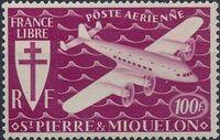 St Pierre et Miquelon 1942 France Libre (Air Post Stamps) g