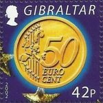 Gibraltar 2002 New coins in Europe f