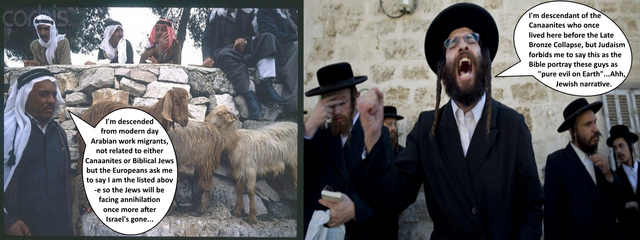 File:Zionists-Israelis-Jews vs. ''palestinians''-arabs on the debate who'se descendant of Canaanites.png