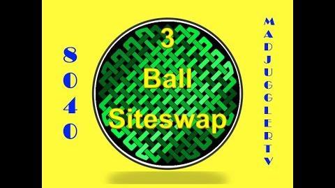 8040 ~ Three Ball Siteswap
