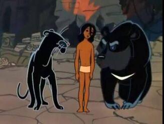 Mowgli, Baloo and Bagheera (Maugli)