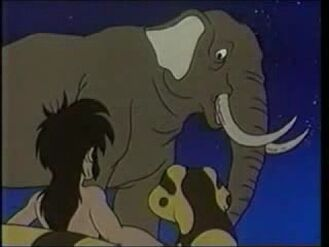 Mowgli, Kaa and Hathi