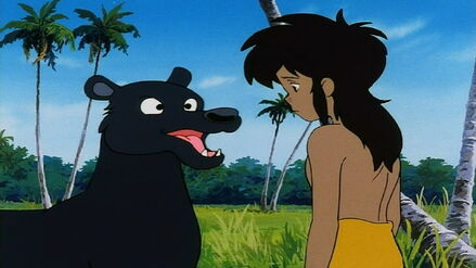 Bagheera tells Mowgli to Stand Up