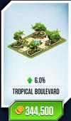 Tropical Boulevard Card