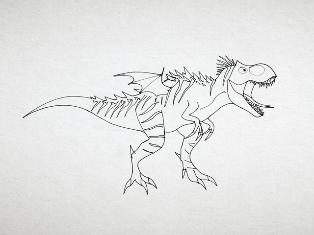File:T. rex with bat wings .png