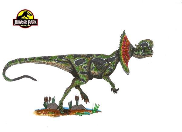 File:Jurassic Park Dilophosaurus by hellraptor.jpg