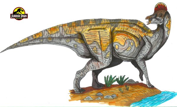 File:Jurassic Park Corythosaurus by hellraptor.jpg