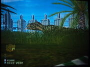 Tyrannosaurus is seen inside of View Dome