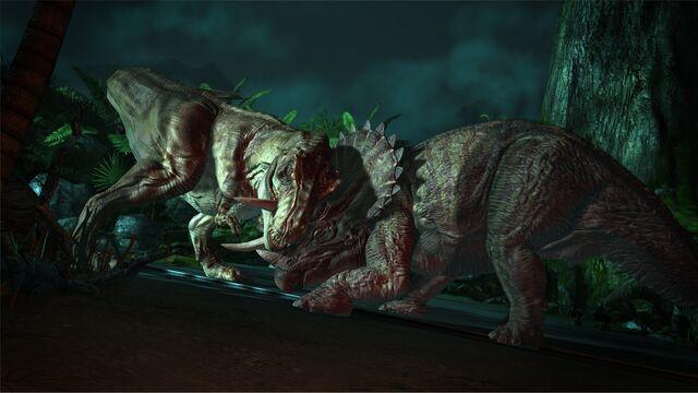 Datei:T-Rex vs Trike JP Telltale.jpg